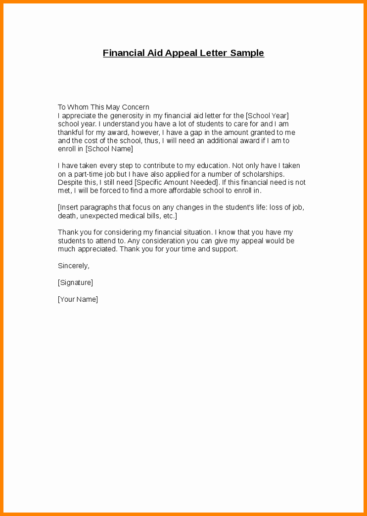 Long Term Missionary Support Letter Template Beautiful 10 Financial Aid Statement Example