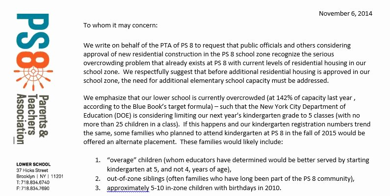 Long Term Missionary Support Letter Template Inspirational Letter Petitions to Ficials About Overcrowding at Ps 8