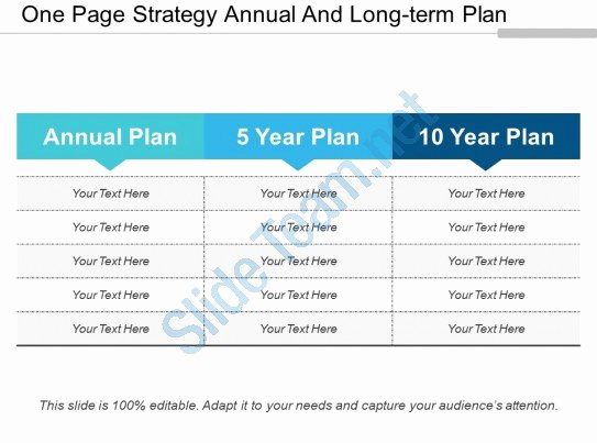 Long Term Plan Template Awesome E Page Strategy Annual and Long Term Plan