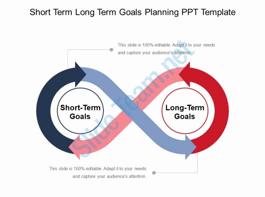 Long Term Plan Template Beautiful Short Term Long Term Goals Planning Ppt Template