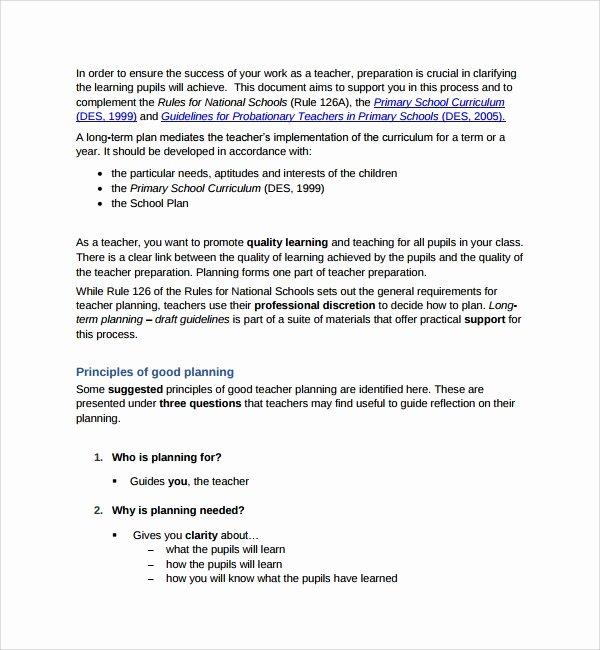 Long Term Plan Template Best Of 10 Curriculum Planning Templates