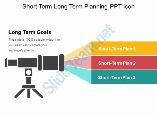 Long Term Plan Template Best Of Short Term Long Term Planning Ppt Icon