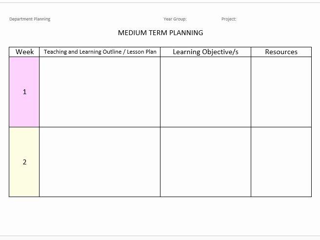 Long Term Plan Template Elegant Medium & Long Term Planning Template by Jessicarape