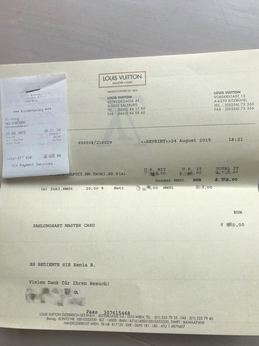 Louis Vuitton Receipt Template Beautiful Louis Vuitton Receipt