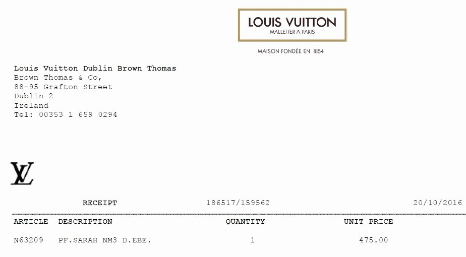 Louis Vuitton Receipt Template Lovely Template Louis Vuitton Receipt Epp Acpfo