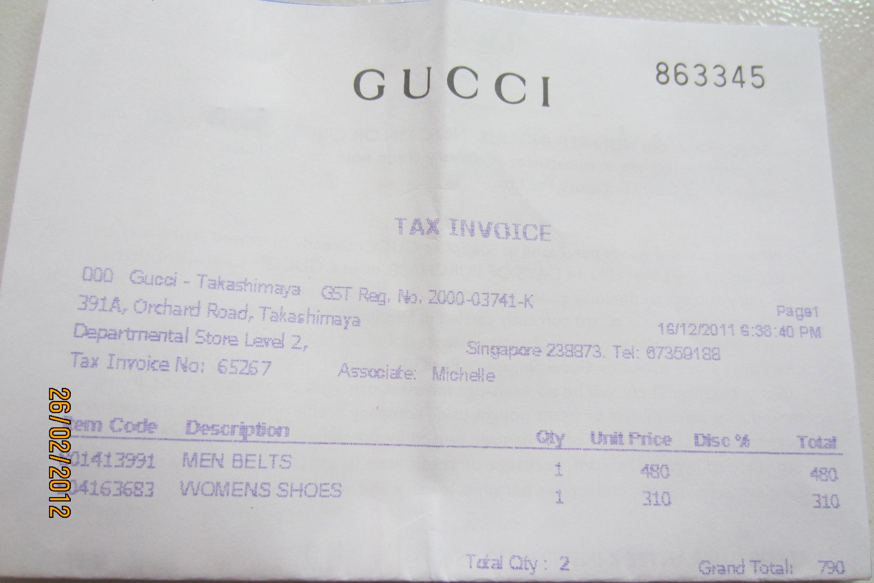 Louis Vuitton Receipt Template New Gucci Receipt Template