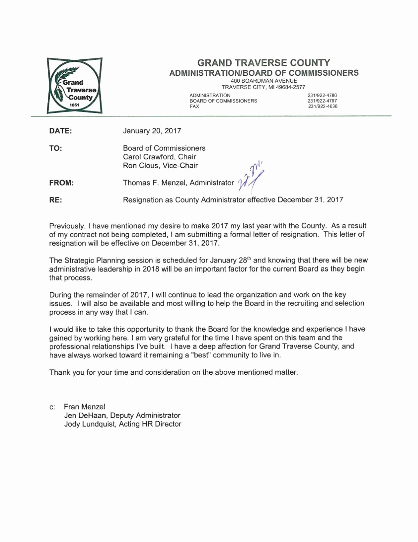 Lox Letter Example New tom Menzel S Resignation Letter