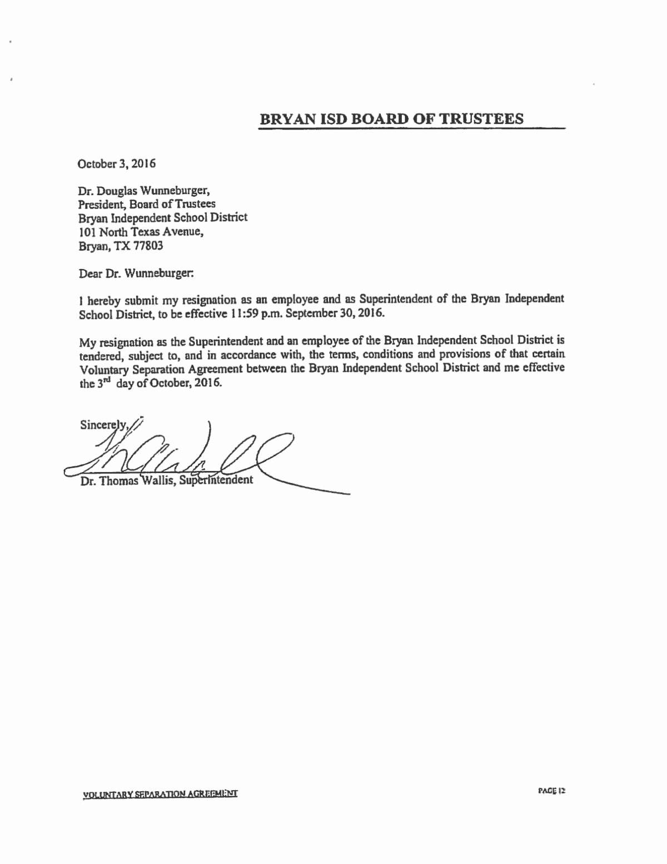 Lox Letter Example Unique tommy Wallis Resignation Letter