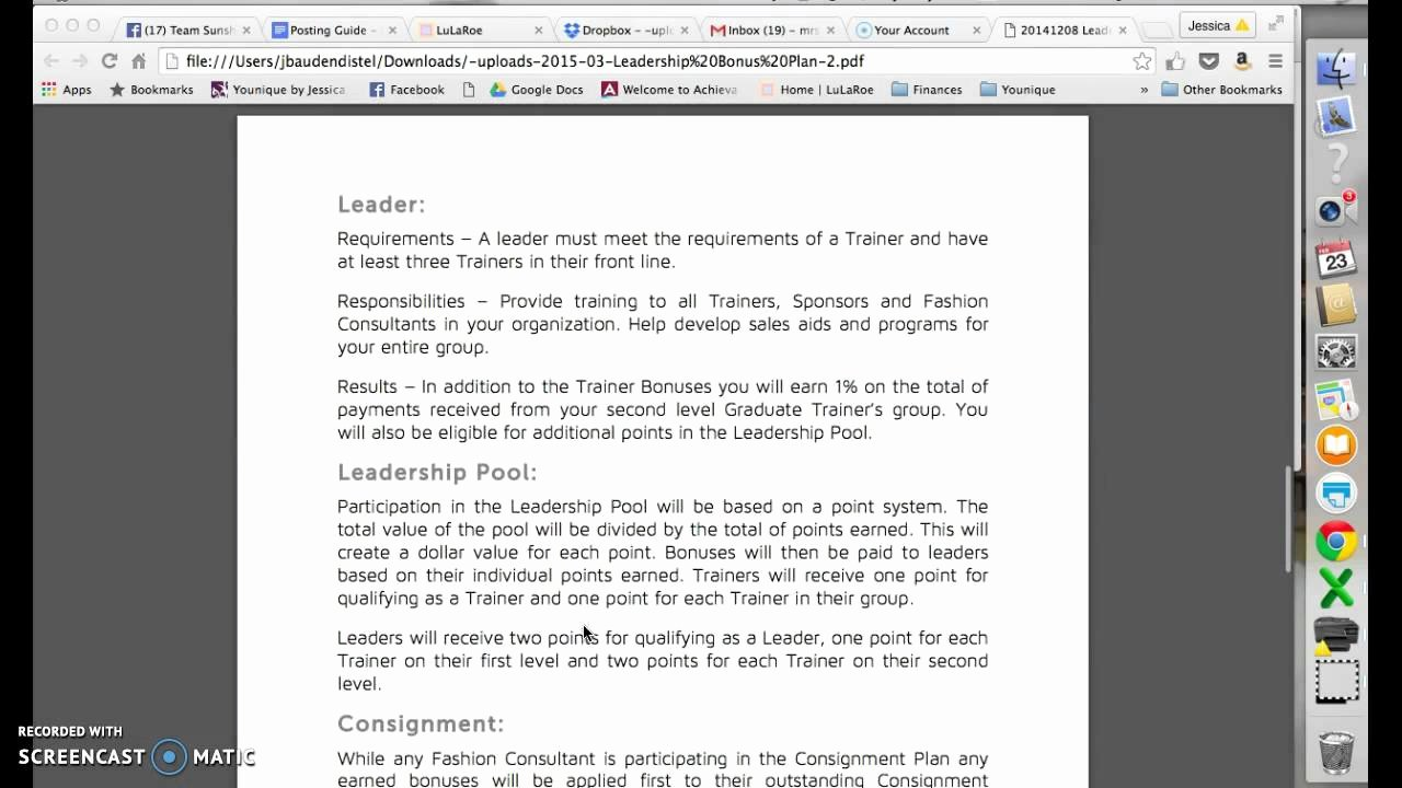 Lularoe Business Plan Template Elegant Lularoe Leadership Bonus Plan