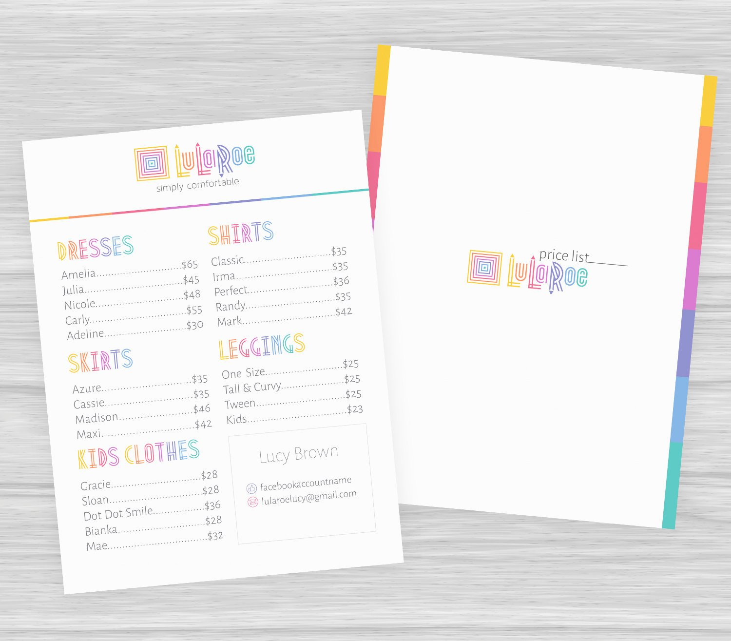 Lularoe Business Plan Template Fresh Free Customize Lularoe Price List Lularoe Pricing Guide by