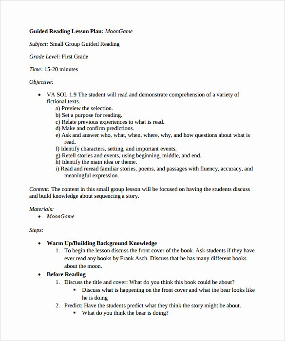 Madeline Hunter Lesson Plan Template Lovely Sample Guided Reading Lesson Plan Template – 9 Free