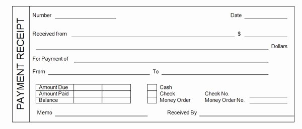 Make Your Own Receipt Book Fresh Payment Receipt