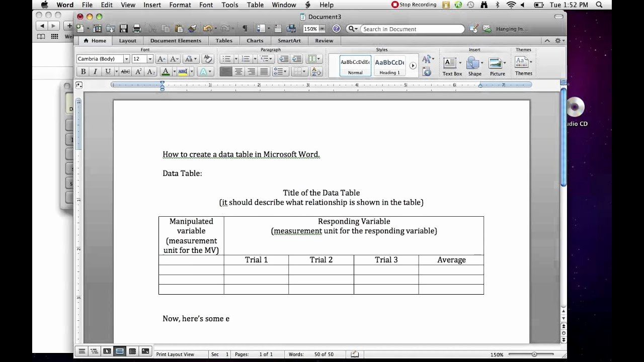 Making A form In Word Beautiful How to Create A Data Table In Ms Word