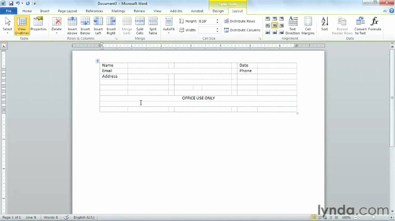 Making A form In Word Elegant Microsoft Word Creating Professional Looking forms