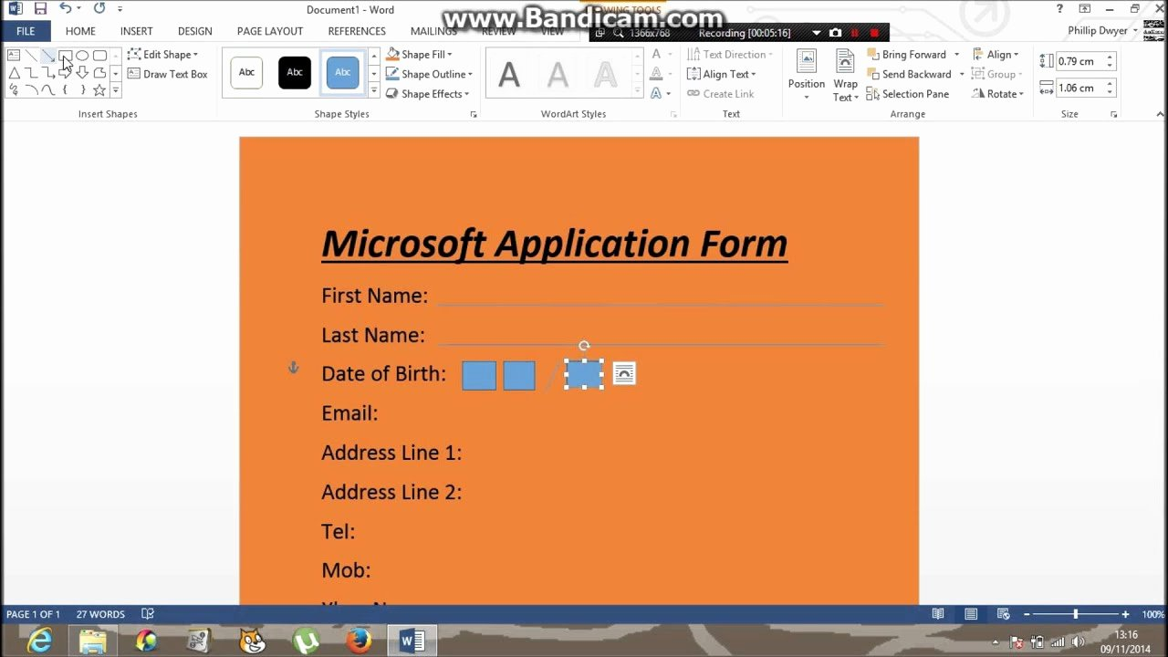 Making A form In Word Fresh How to Make An Application form On Word 365