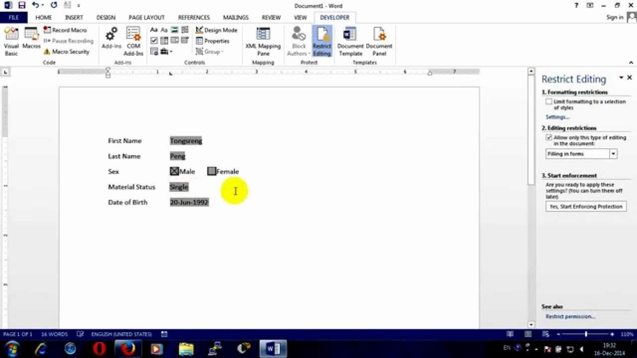 Making A form In Word Luxury How to Create Fillable form In Ms Word 2013
