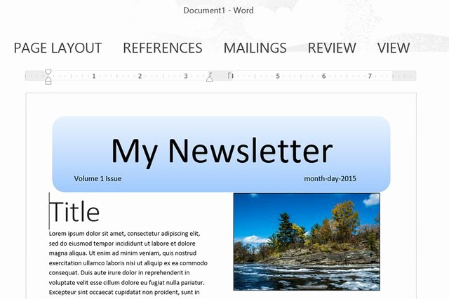 Making A form In Word Luxury How to Make A Newsletter Template In Word