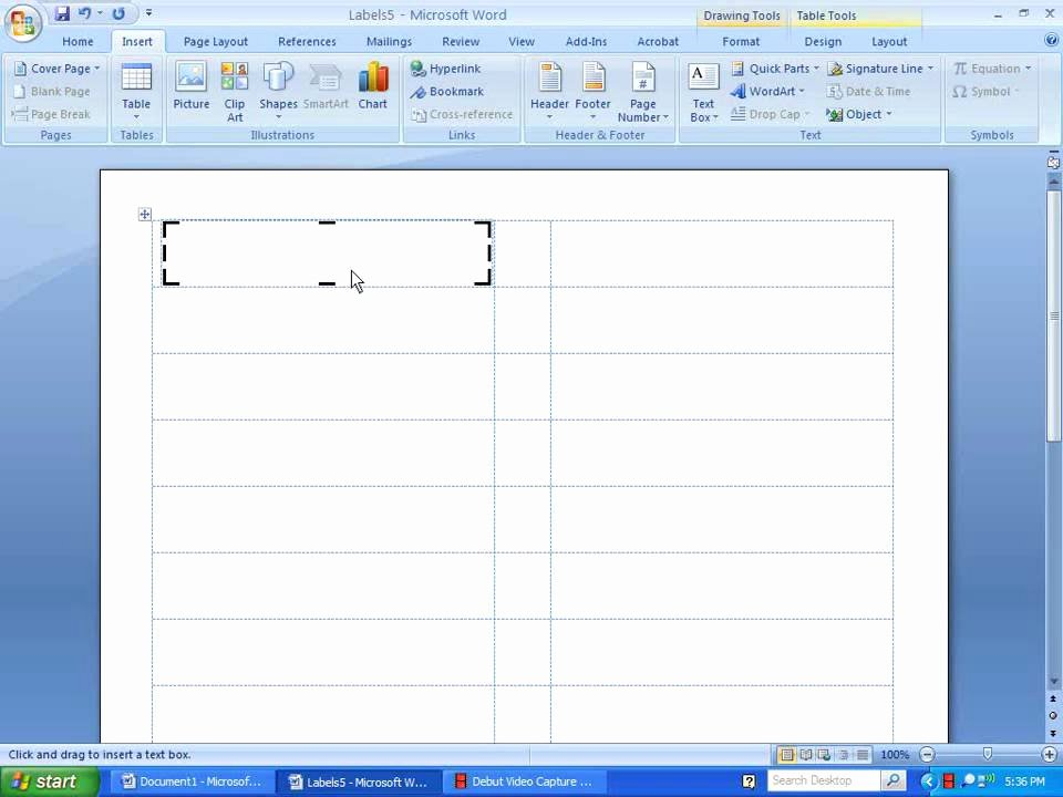 Making A form In Word Unique Word 2007 Inserting Picture and Text On Label