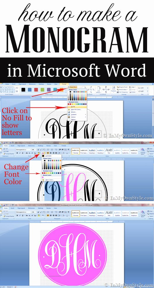 Making form In Word Best Of How to Create A Monogram Using Microsoft Word