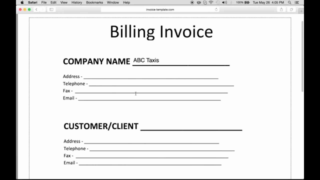 Making form In Word Elegant How to Make A Billing Invoice Excel Pdf