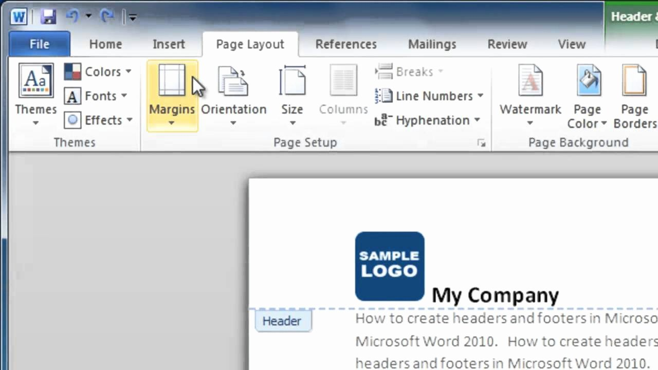 Making form In Word Inspirational How to Make A Header and Footer In Word 2010