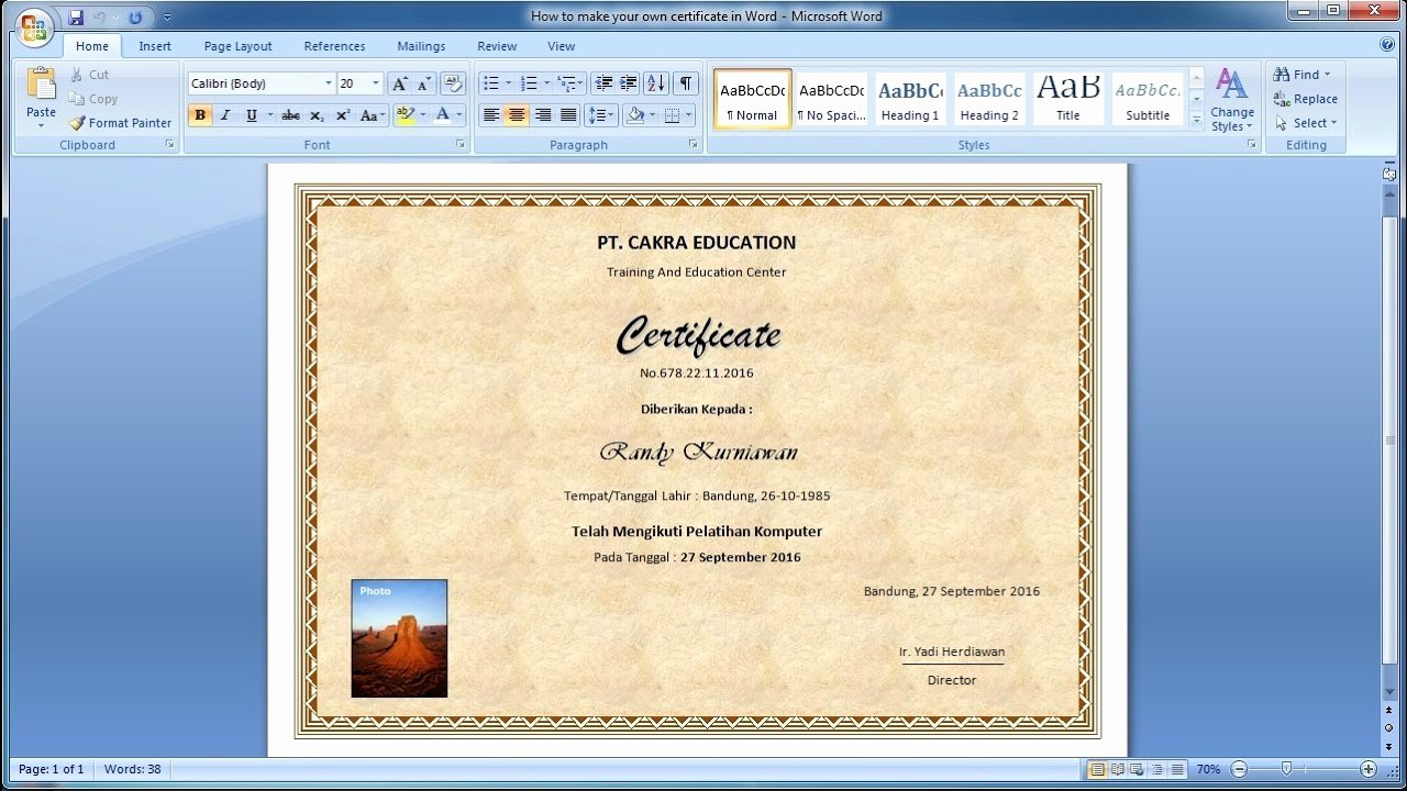 Making form In Word Inspirational How to Make Your Own Certificate In Word Learn Ms Word