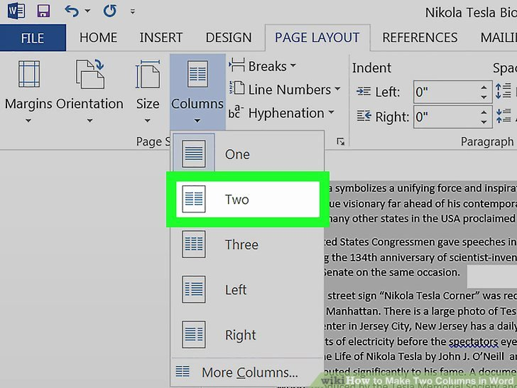 Making form In Word Lovely How to Make Two Columns In Microsoft Word Wikihow