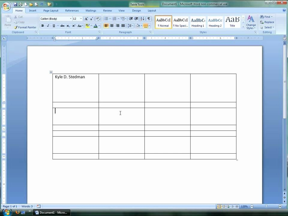 Making form In Word Luxury How to Use Tables In Microsoft Word 2007