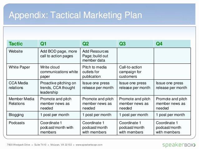 Marketing Communications Plan Template Elegant Cca Munications Plan