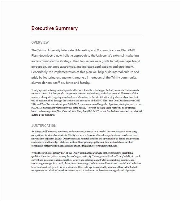 Marketing Communications Plan Template Elegant Integrated Marketing Munication Plan Template – 10