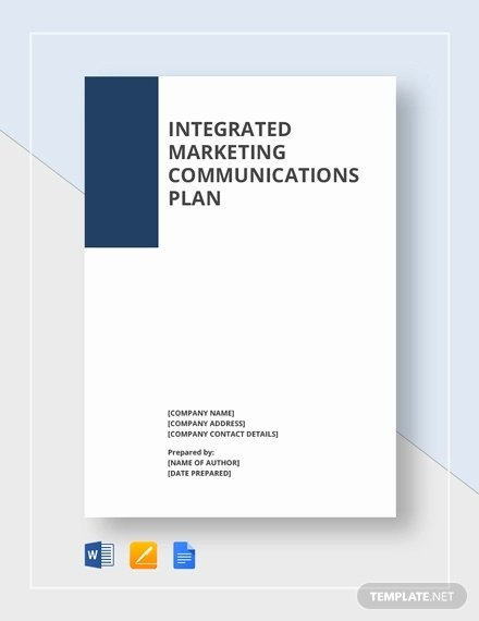 Marketing Communications Plan Template Elegant Munication Plan Template 9 Word Pdf Documents