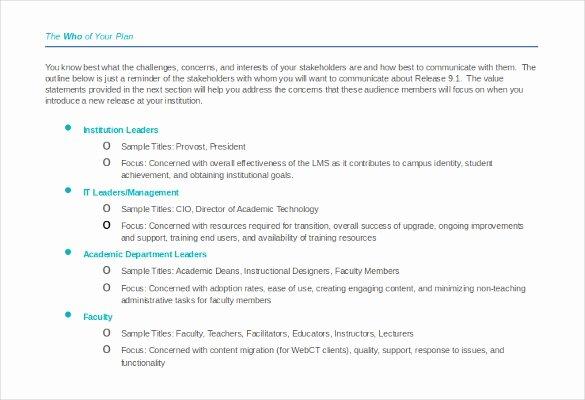 Marketing Communications Plan Template Fresh 10 Munication Strategy Templates Free Word Pdf