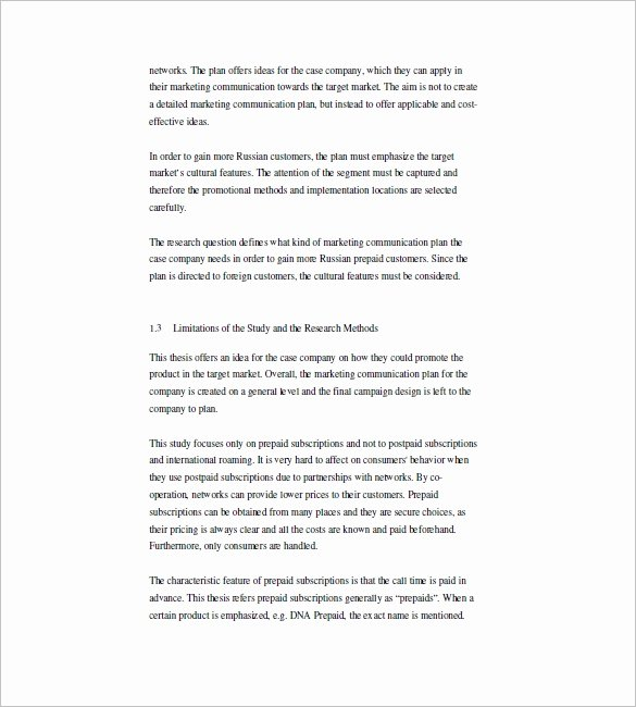 Marketing Communications Plan Template Lovely 13 Marketing Munication Plan Template Free Pdf Word