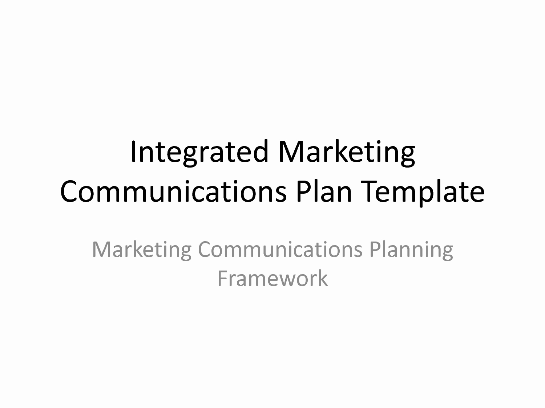 Marketing Communications Plan Template Luxury Best S Of Marketing Munication Plan Template