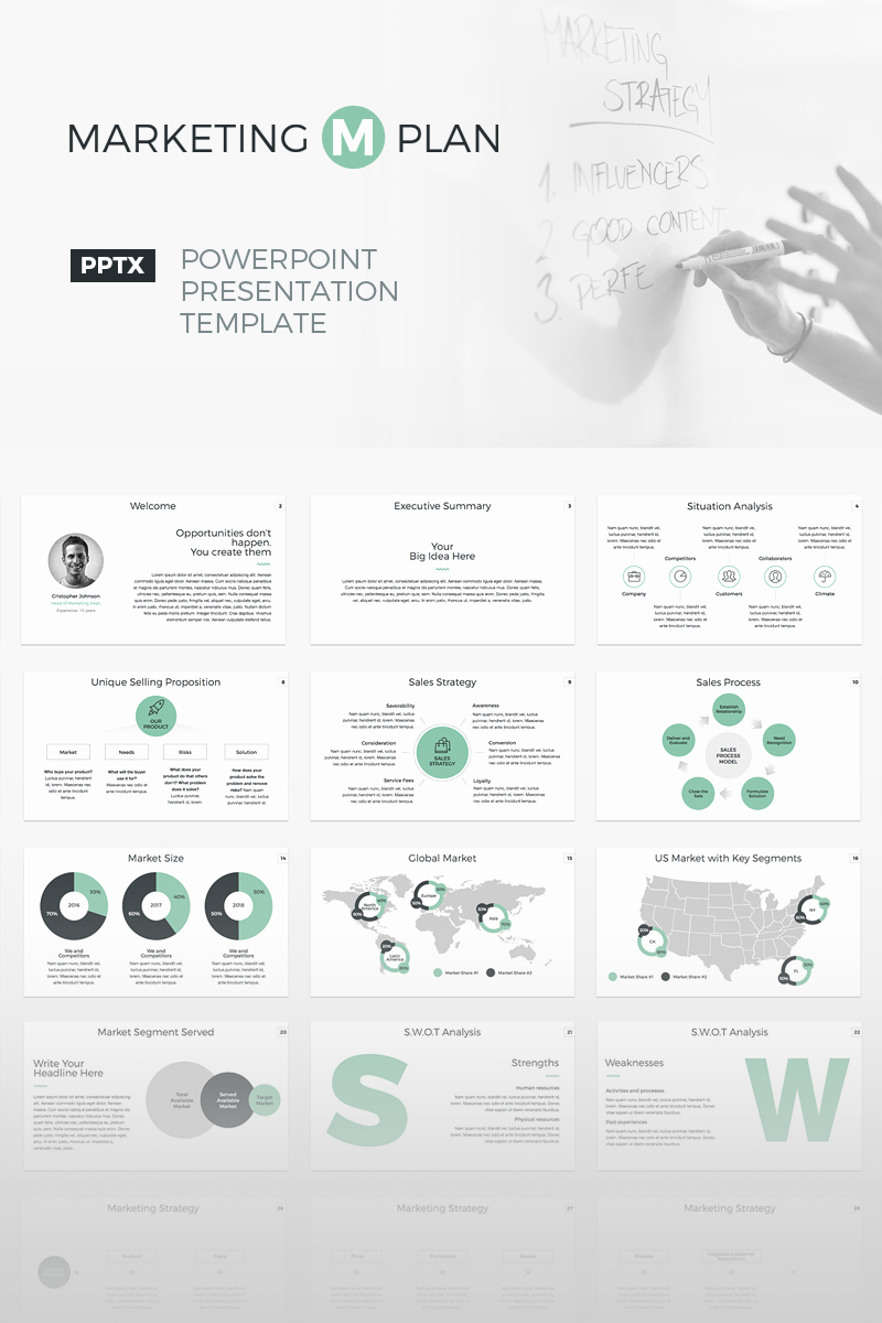 Marketing Plan Powerpoint Template Awesome Business Powerpoint Template