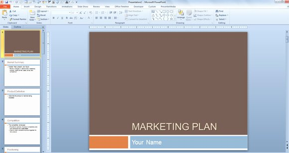 Marketing Plan Powerpoint Template Best Of Free Marketing Plan Template for Powerpoint Presentations