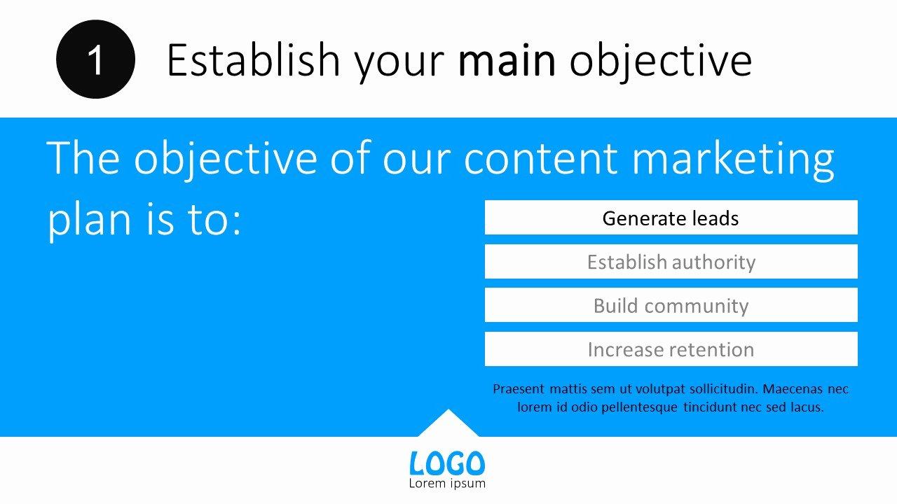 Marketing Plan Powerpoint Template Elegant Content Marketing Plan Powerpoint Templates
