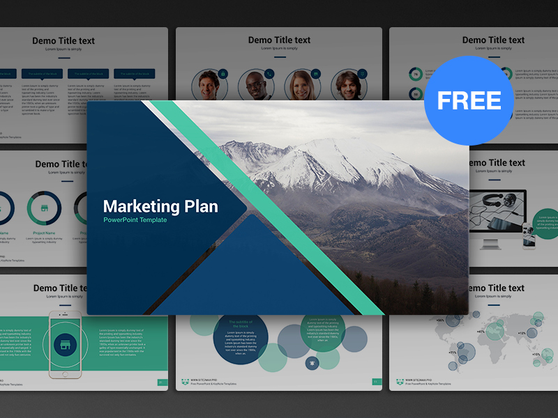 Marketing Plan Powerpoint Template New Free Powerpoint Template Marketing Plan by Hislide
