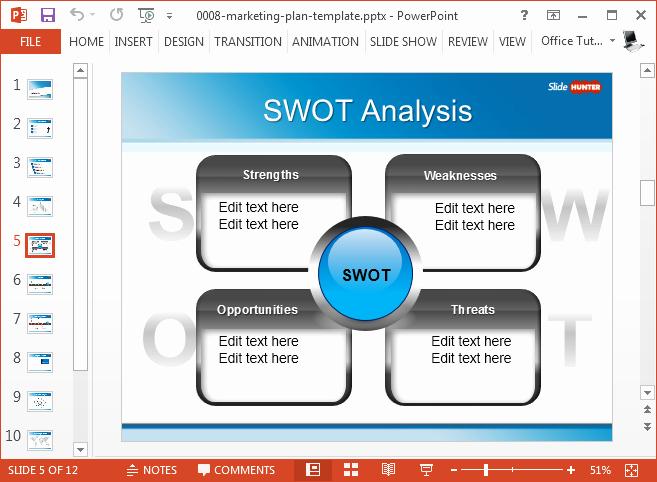 Marketing Plan Powerpoint Template Unique Best Swot Powerpoint Templates