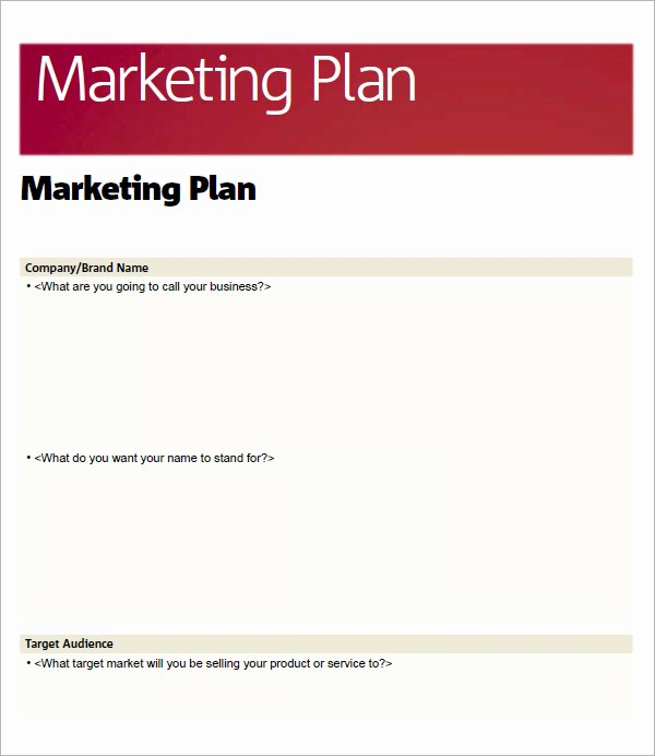 Marketing Plan Template Word Beautiful 14 Sample Marketing Plan Templates
