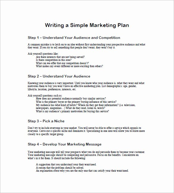 Marketing Plan Template Word Best Of 19 Simple Marketing Plan Templates Doc Pdf