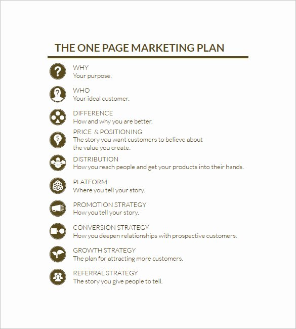 Marketing Plan Template Word New 19 Simple Marketing Plan Templates Doc Pdf