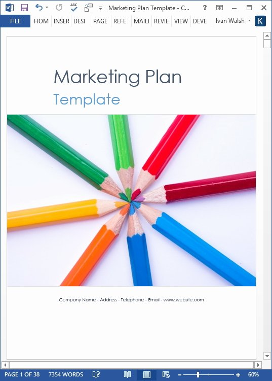 Marketing Plan Template Word Unique Marketing Plan Template – 40 Page Ms Word Template and 10