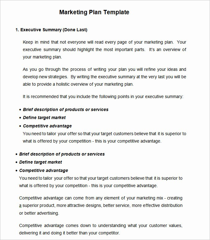 Marketing Plan Template Word Unique Strategic Marketing Plan Template 10 Free Word Pdf