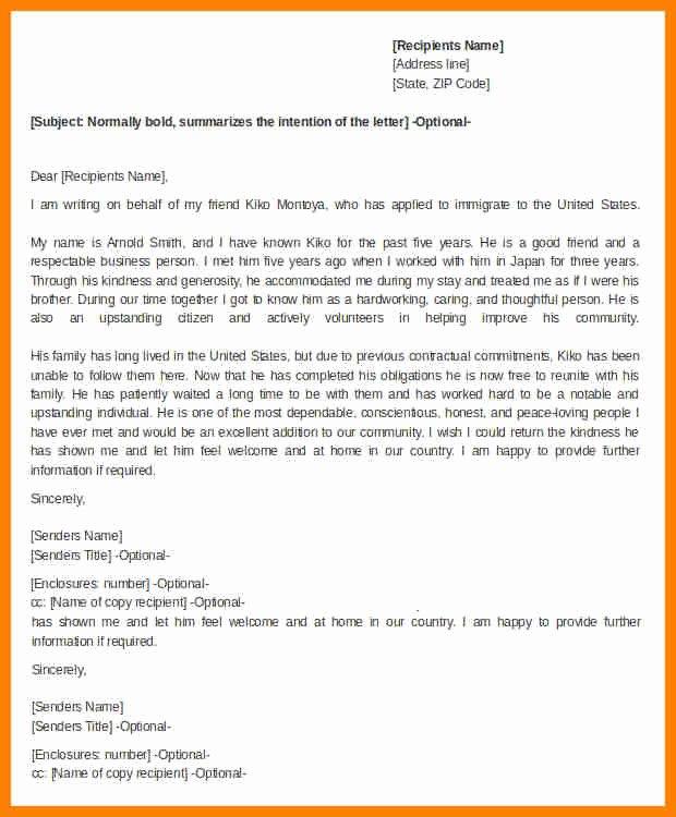 Marriage Letter for Immigration Sample Elegant 7 Letter Of Re Mendation for Immigration Marriage