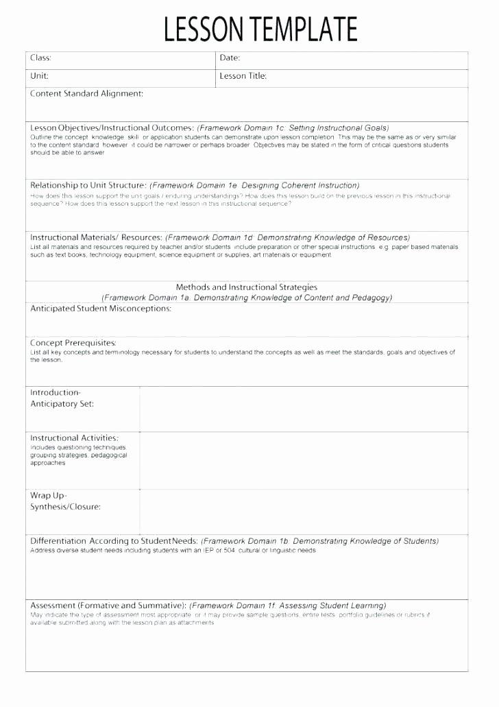 Marzano Lesson Plan Template Luxury Marzano Lesson Plan format Template – Briliant Lesson Plan