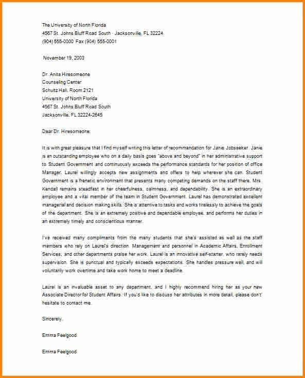 Masters Program Recommendation Letter Beautiful 5 Re Mendation Letter for Masters Degree From Employer