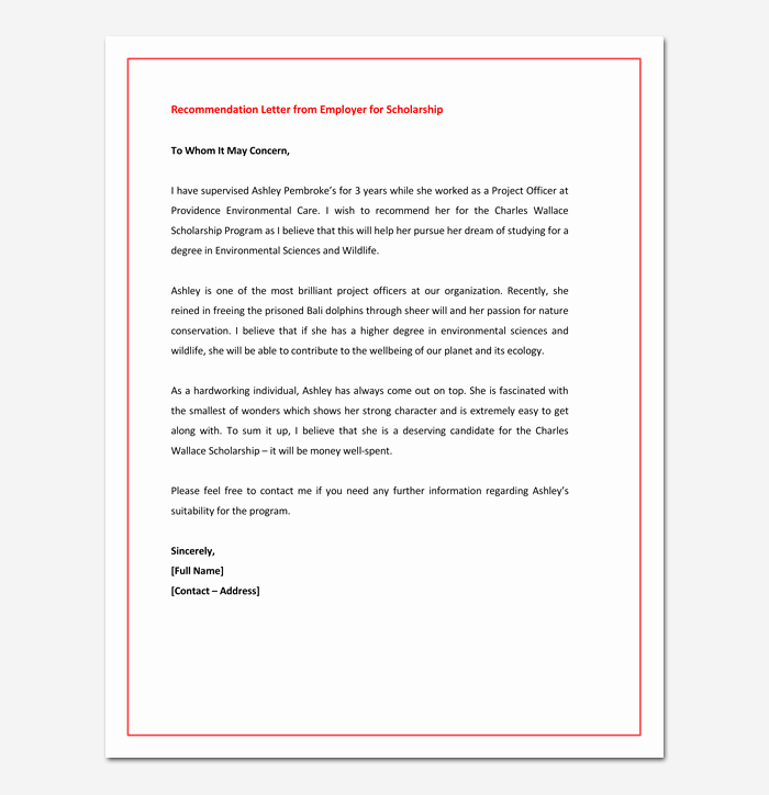 Masters Program Recommendation Letter Best Of Re Mendation Letter for Graduate School From Employer