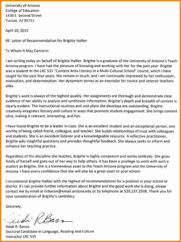 Masters Program Recommendation Letter Unique 7 Letter Of Re Mendation Samples for Masters Degree