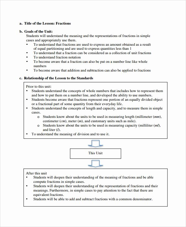 Math Lesson Plan Template Best Of 10 Math Lesson Plan Templates